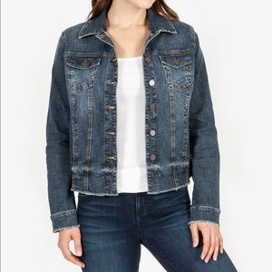 Kut From The Cloth Distressed Denim Jacket